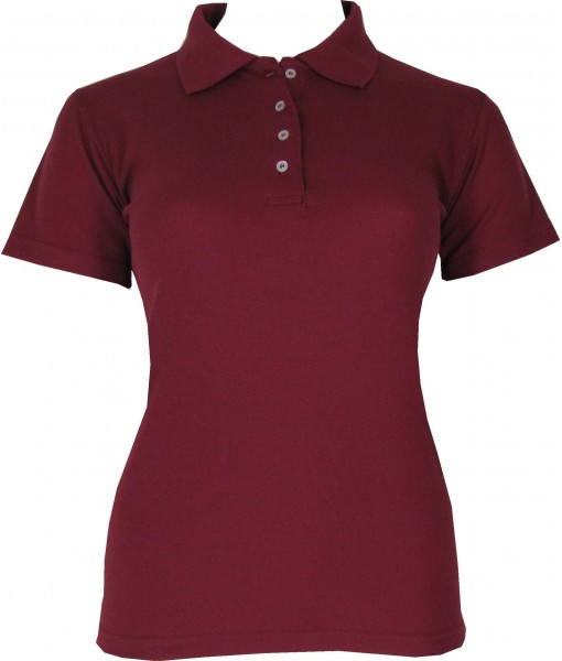 Women's Burgundy Red Polo Shirt