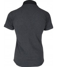 Women's Dark Grey Polo Shirt