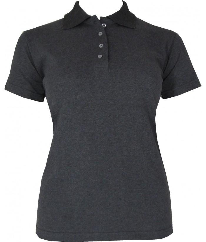 Women s Dark Grey Polo Shirt  36c10cd4b8