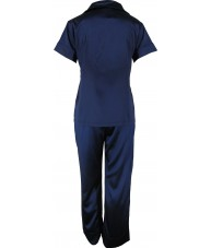 Navy Blue Satin Pyjamas Autumn / Spring