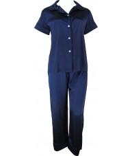 Navy Blue Satin Pyjamas Autumn / Spring