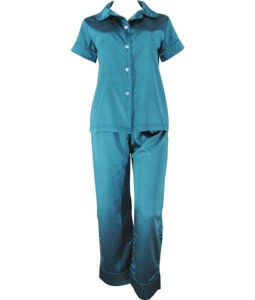 Green Satin Pyjamas Autumn / Spring
