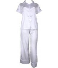 White Satin Pyjamas Autumn / Spring