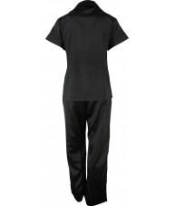 Black Satin Pyjamas Autumn / Spring