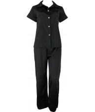 Black Satin Pyjamas Autumn / Spring