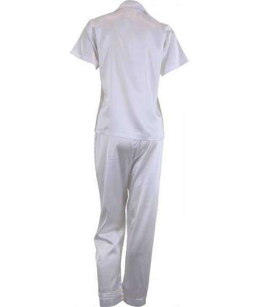 White Satin Pyjamas Spring / Autumn