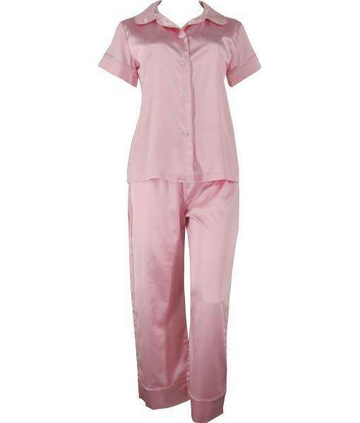 Pink Satin Pyjamas Autumn / Spring