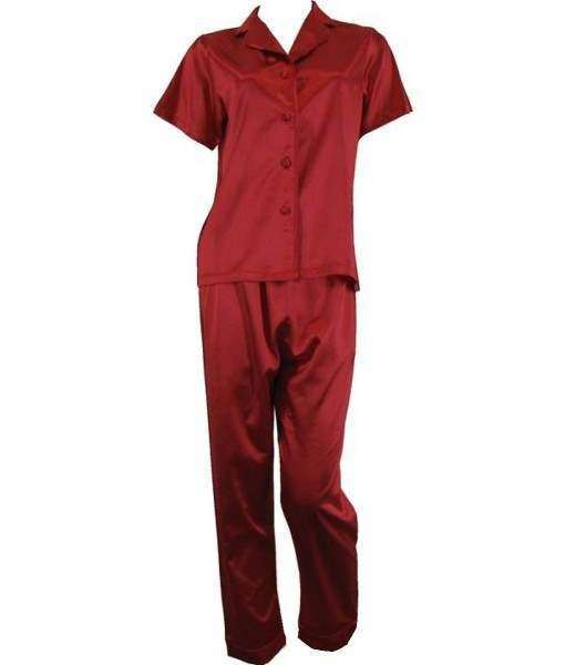 Red Satin Pyjamas Spring / Autumn