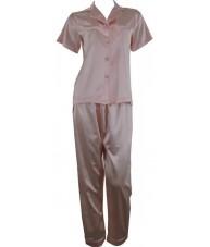 Champagne Pink Satin Pyjamas Spring / Autumn