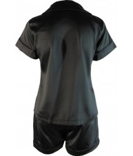 Black Satin Pyjamas Summer