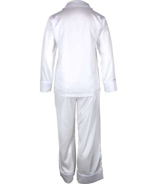 White Satin Pyjamas Winter