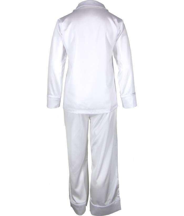 White Satin Pyjamas Winter  6419b059a