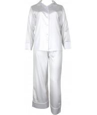 White Satin Pyjamas Winter