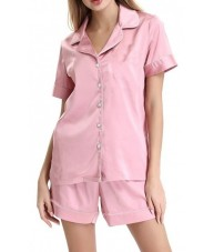 Pink Satin Pyjamas Summer