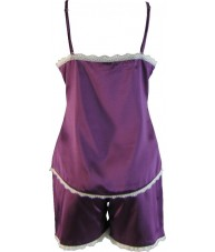 Purple Satin Cami Summer Pyjamas