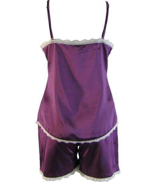Purple Satin Cami Summer Pyjamas