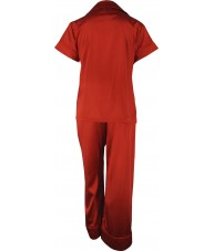 Red Satin Pyjamas Autumn / Spring