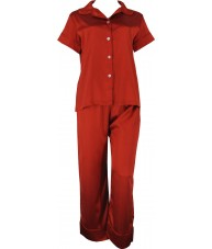 Red Satin Pyjamas Autumn / Spring