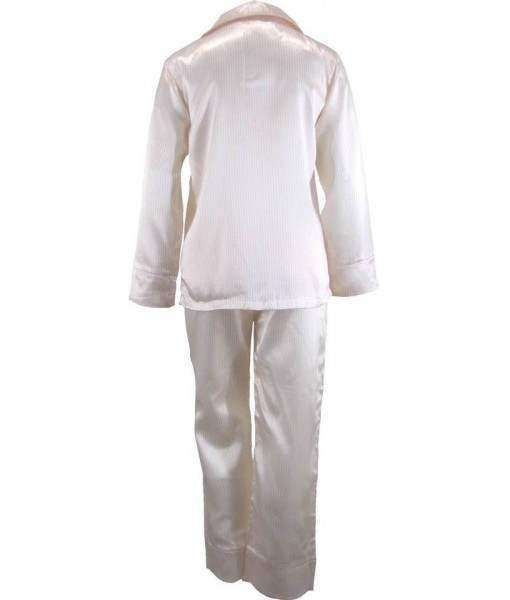 Striped Yellow And White Satin Pyjamas Winter