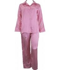 Striped Pink And White Satin Pyjamas Winter