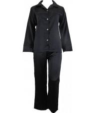Black Satin Pyjamas Winter