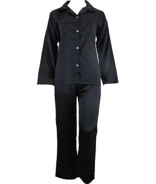 Black Satin Pyjamas Winter