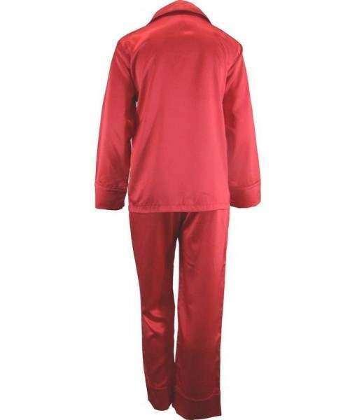 Light Red Satin Pyjamas Winter