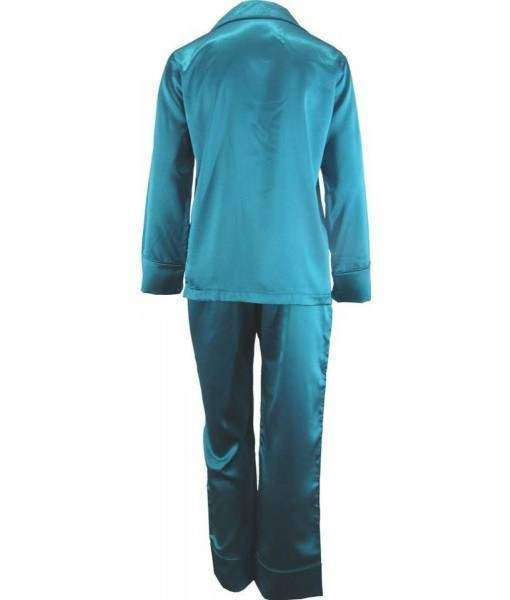 Green Satin Pyjamas Winter
