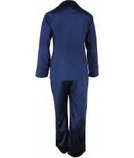 Navy Blue Satin Pyjamas Winter