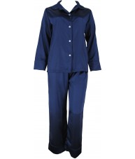 Navy Blue Satin Pyjamas Winter