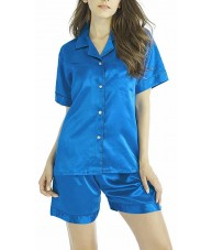 Azure Satin Pyjamas Summer