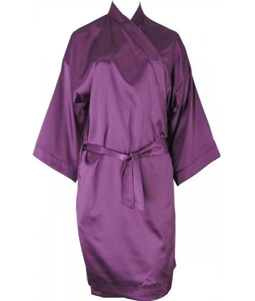 Oversized Purple Satin Robe / Dressing Gown