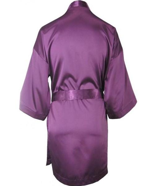 Oversized Purple Satin Robe / Dressing Gown