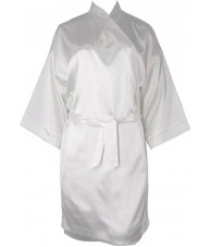 Oversized Pearl White Satin Robe / Dressing Gown