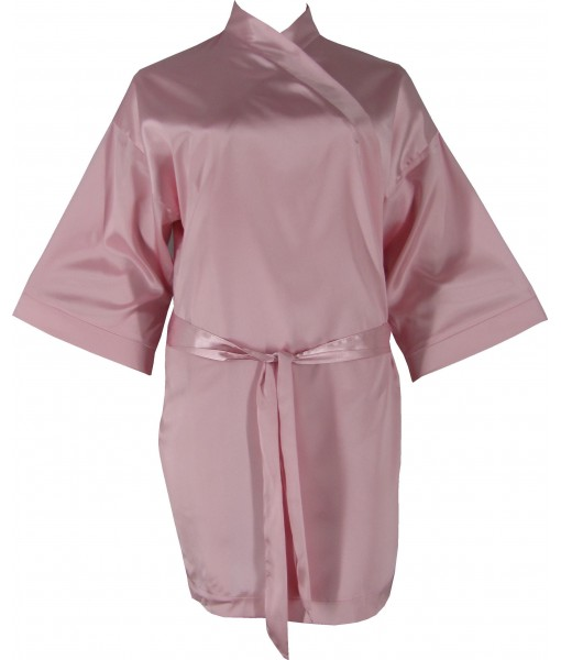 Pink Satin Robe / Dressing Gown