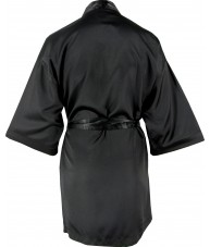 Black Satin Robe / Dressing Gown
