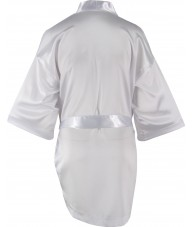 White Satin Robe / Dressing Gown