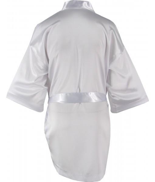 White Satin Robe / Dressing Gown