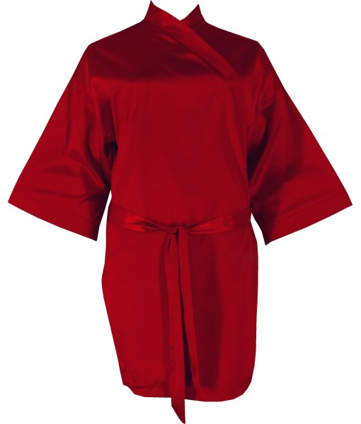 Red Satin Robe / Dressing Gown