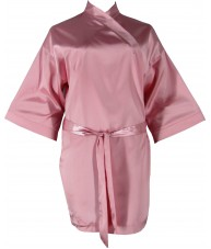 Champagne Pink Satin Robe / Dressing Gown