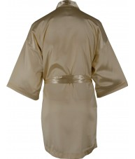 Gold Satin Robe / Dressing Gown