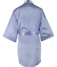 Light Blue Satin Robe / Dressing Gown