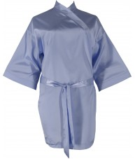 Light Blue Satin Robe / Dressing Gown