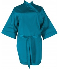 Green Satin Robe / Dressing Gown