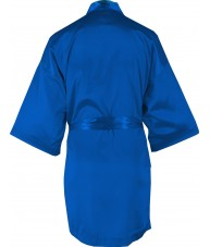 Dark Blue Azure Satin Robe / Dressing Gown