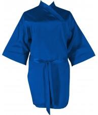 Dark Blue Azure Satin Robe / Dressing Gown