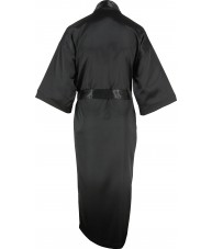 Full Length Black Satin Robe / Dressing Gown