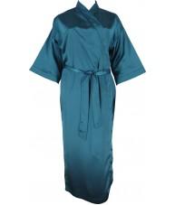 Full Length Green Satin Robe / Dressing Gown