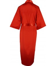 Full Length Red Satin Robe / Dressing Gown
