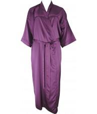 Oversized Full Length Purple Satin Robe